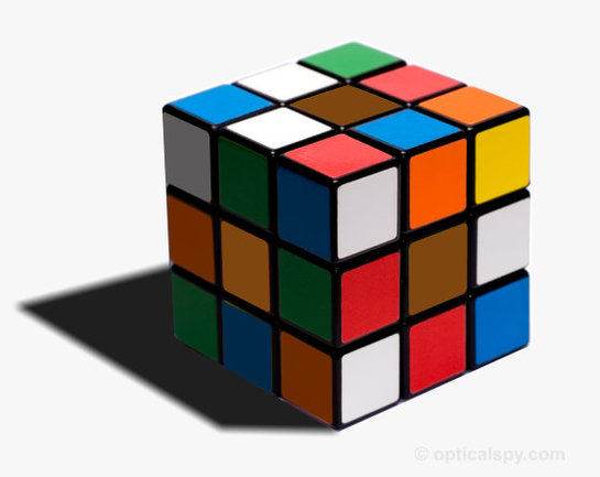 rubicks cube optical illusion